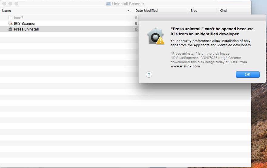 Pour Ce Faire Double Cliquez Sur Uninstall Scanner Il Va Ouvrir Une Fenetre Avec Trois Fichiers Press Certains Mac