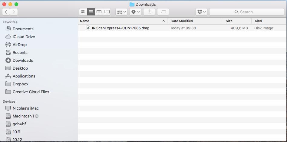 How to install driver (Mac) - I R I S  Helpdesk